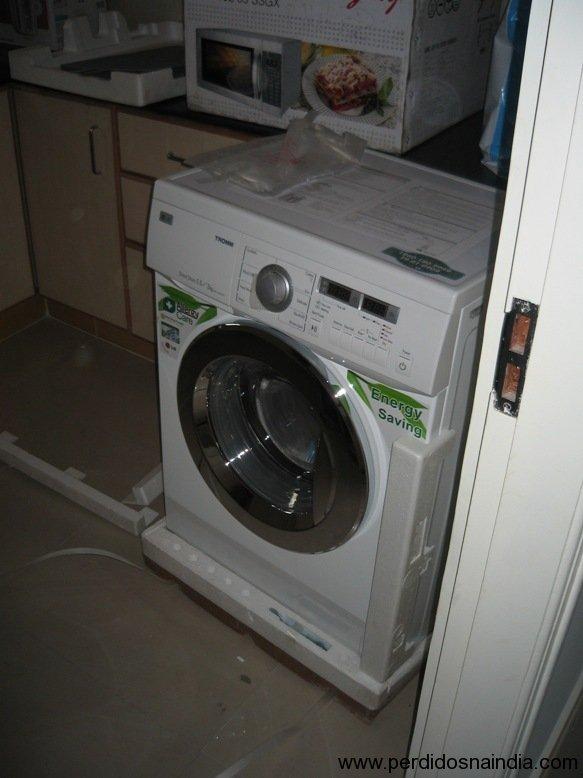 EeeEEe máquina de lavar e secar!