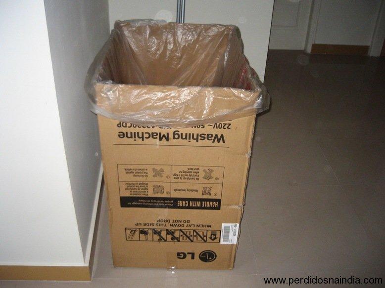o lixão para colocar as caixas!