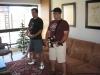 Jogando Guitar Hero na casa da Flaviana e do Sebastian!