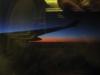 Foto do amanhecer a partir do avião. Rio -> Paris