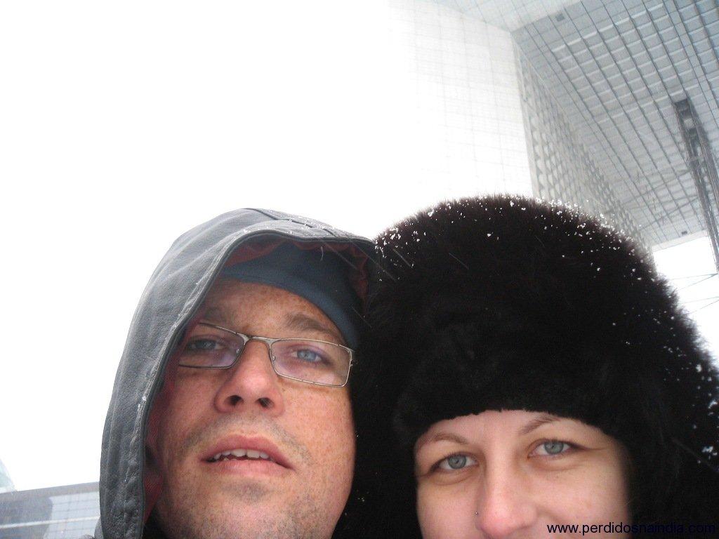 Chico e Carol no Arco da Defesa