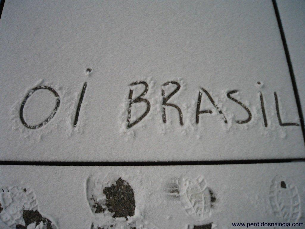 Oi Brasil na neve! ;)