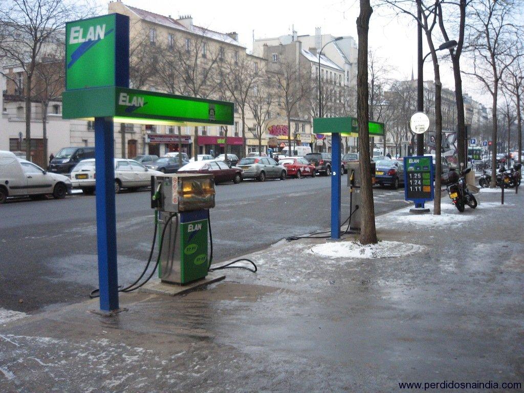 Um posto de gasolina!