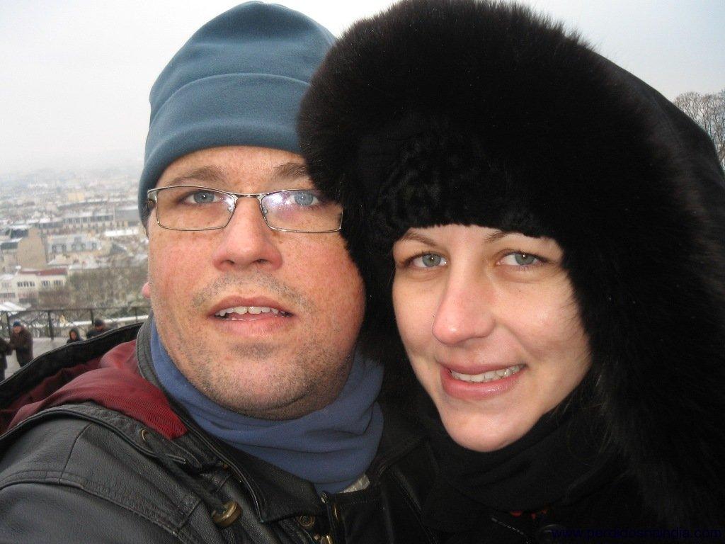 Self-picture com Paris ao fundo