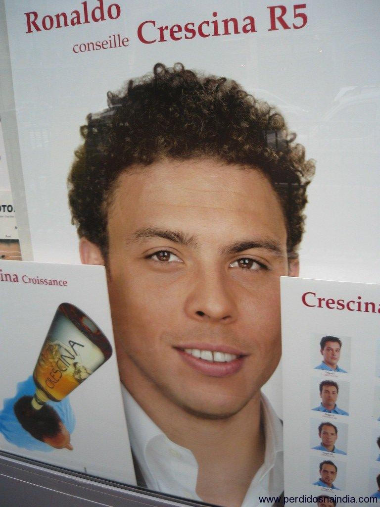 Acho que foi o produto que deixou o Ronaldo com gosto diferente... é dos carecas que elas gostam mais!