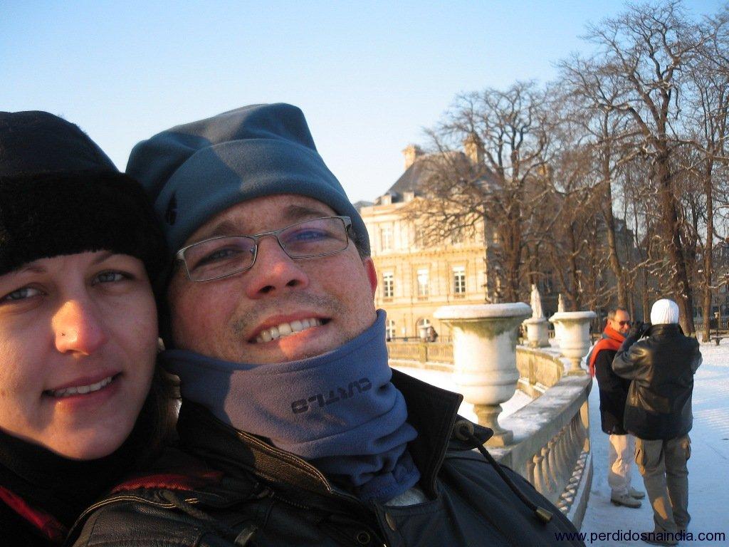 Self picture com o Jardim de Luxemburgo