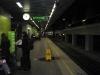 Esperando o trem.