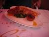 Um frango com recheio de presunto e queijo de cabra!