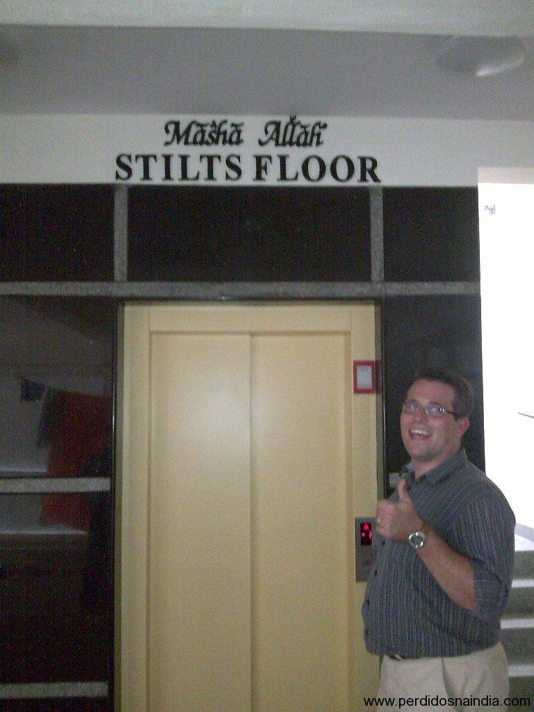 Temos até elevador!