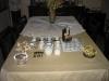 Mesa do café para depois do churrasco