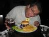 O hamburger estava delicioso...