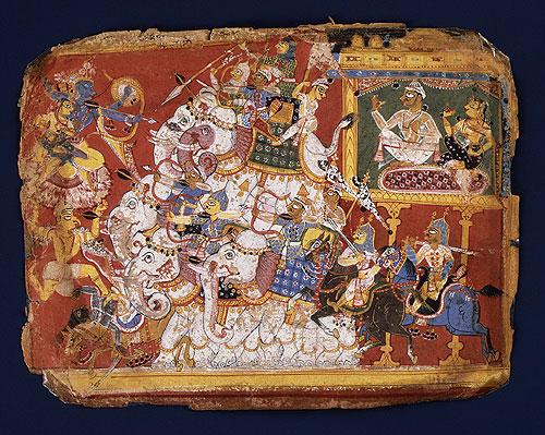 A lista de Krishna contra o domônio Narakasura