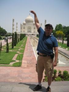 Eu no Taj Mahal