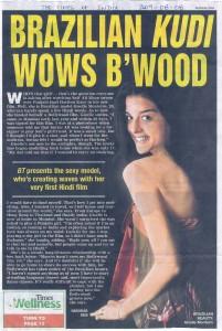 Modelo brasileira fazendo sucesso em Bollywood